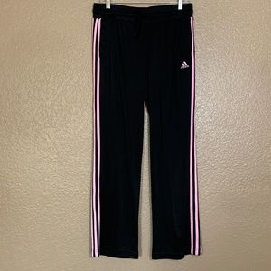 Adidas Straight Leg Pink Stripe Athletic Sweatpant
